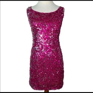 Sugar & Spice Small Pink Sequins Dress Wetseal